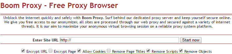 Boom free browser proxy