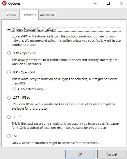 ExpressVPN Protocols