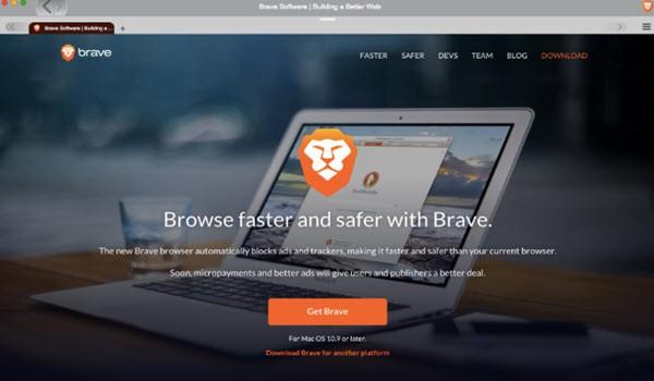 Brave Browser UI