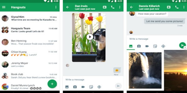 how to delete messages on google hangout group chat