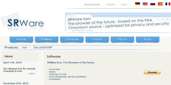 SRWare Browser