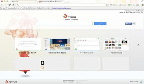 Torch Browser UI