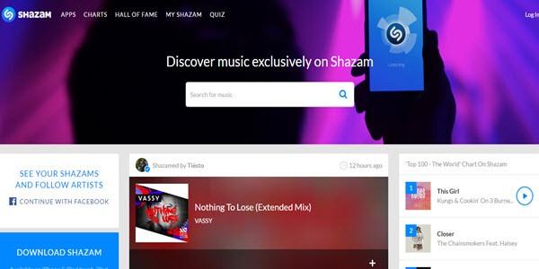 Shazam alternatives