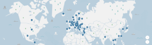NordVPN server location and density