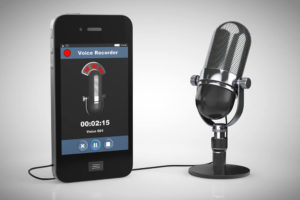 Iphone with Microphone using Voice Recorder