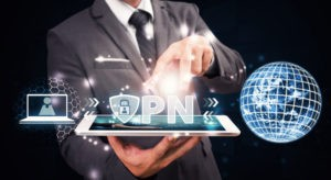 VPN Protect for network computer social website security service