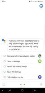 Give comands to your google assistant.