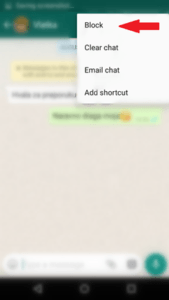 Block contacts in WhatsApp.