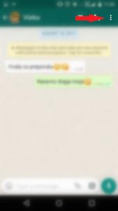 Settings option in WhatsApp.