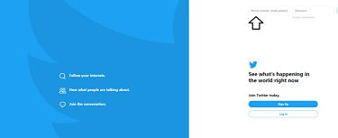 Twitter official website log in.