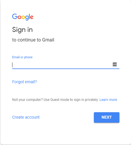 Sign in to Gmail.