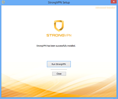 Run Strong VPN on your PC.