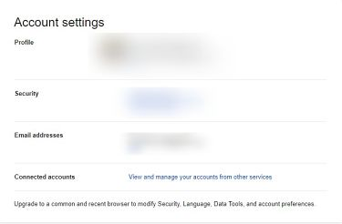 Change privacy settings on google.