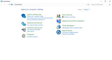 Control Panel Screenshot.
