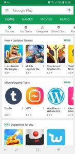 Google Play Store Sreenshot.