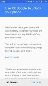 OK google to unlock your phone.