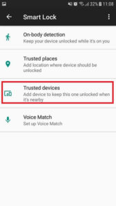 Add trusted devices option on Android app.