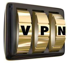 VPN letters on lock dials.