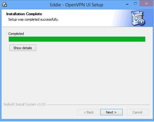 UI Setup installation complete.