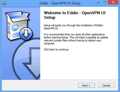 VPN UI setup.