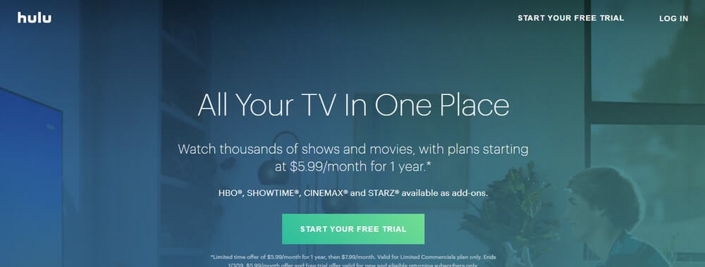 Hulu official website.