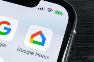 Google Home App on a smart phone screen.