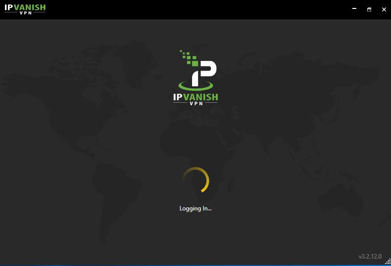 Activating IP Vanish VPN.