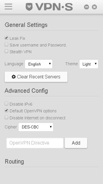 Disable ip5 VPN.S screenshot.
