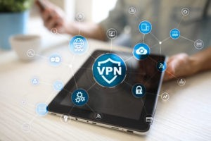 VPN icon on a tablet.