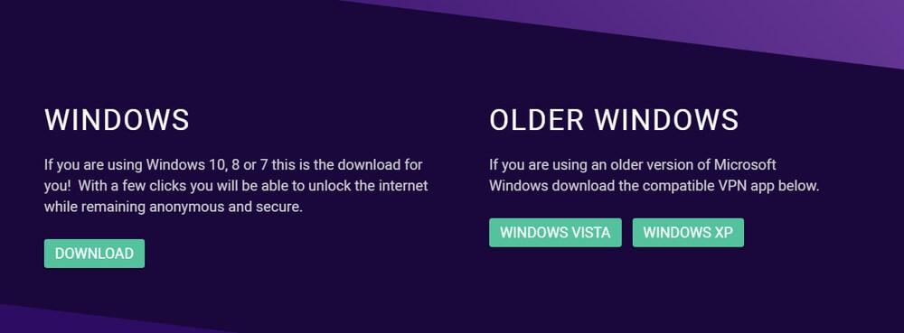 VPNSecure homepage screenshot.