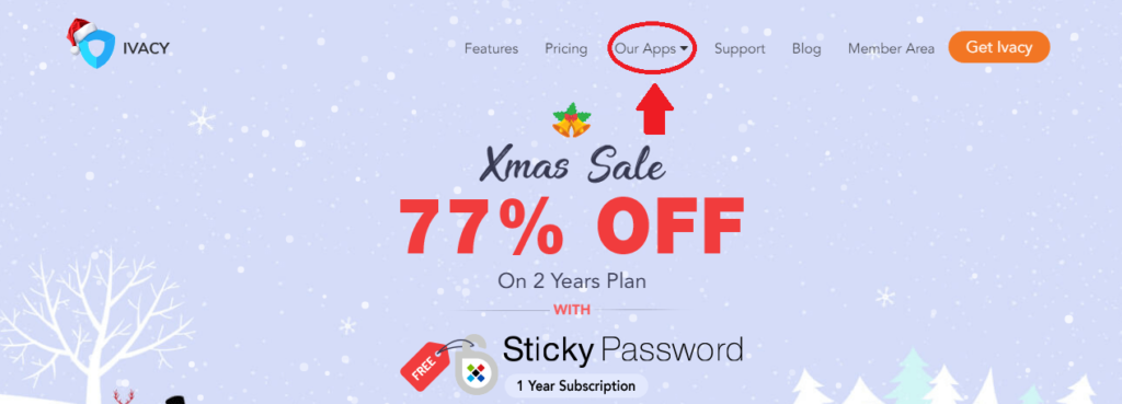 Official Ivacy Website with Xmas Sale