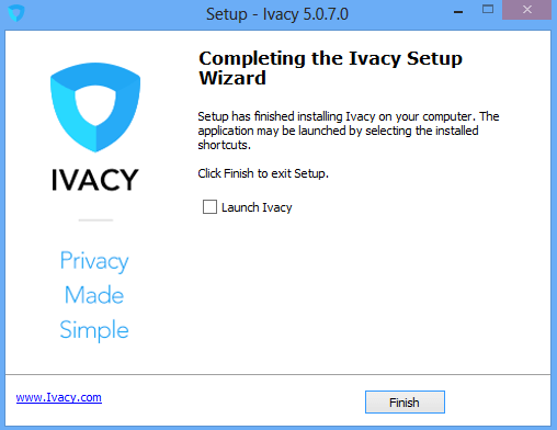Ivacy Installation Setup, Complete