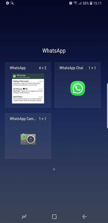 WhatsApp Widget screenshot.