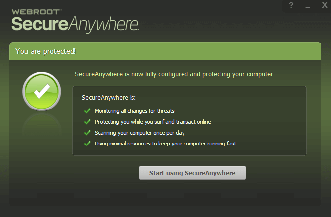 Start Using SecureAnywhere