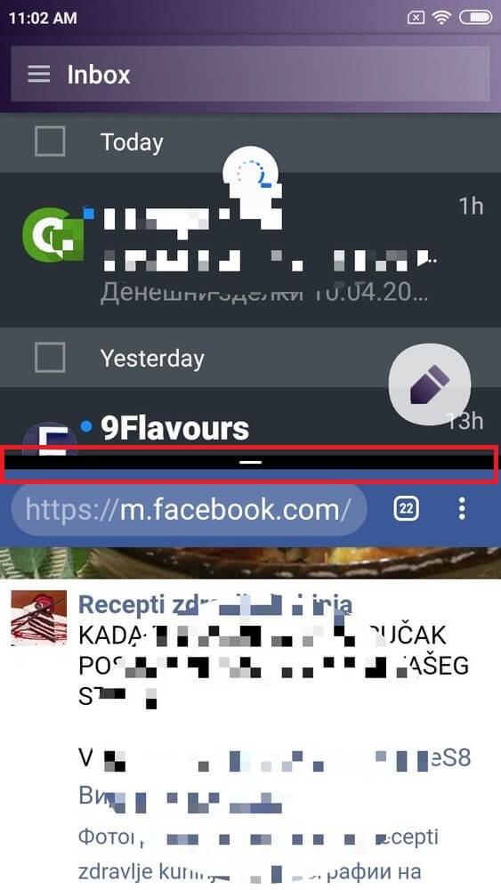 Turn Off split screen android option screenshot.