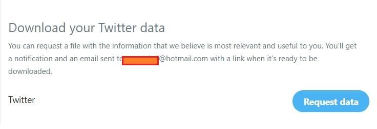 Request Twitter Data