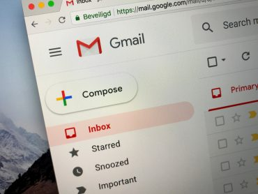 Website of Gmail, a free email service developed by Google.