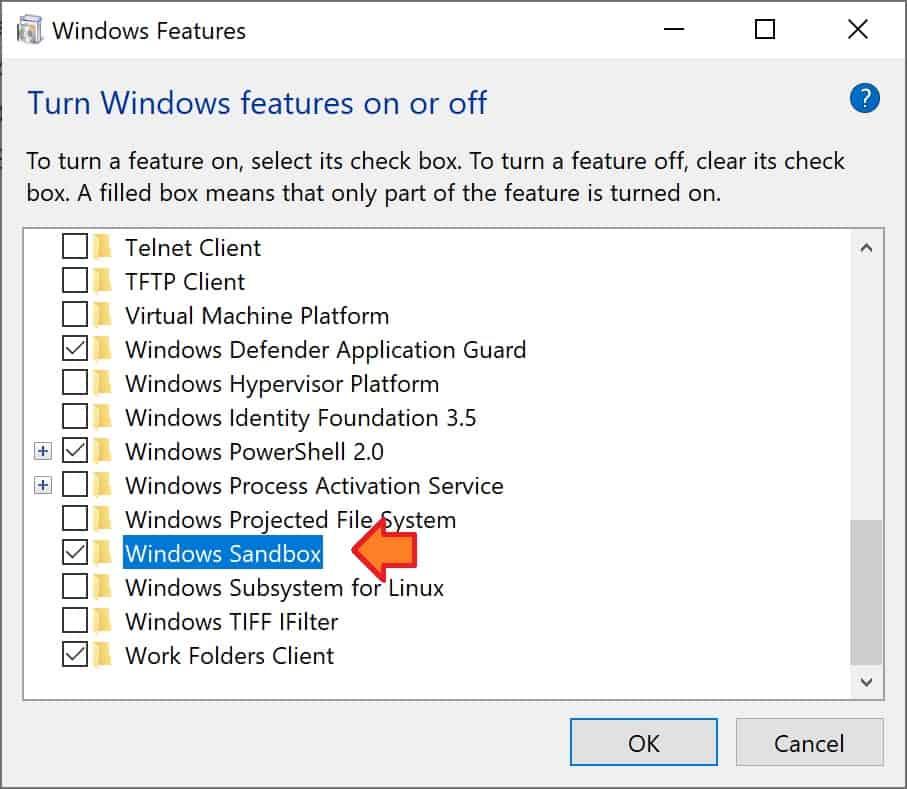 Fig 4 - Windows Sandbox