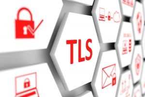 TLS concept cell blurred background