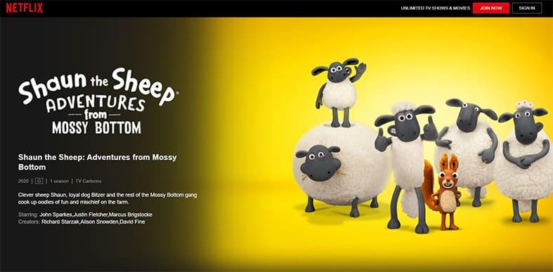 An image featuring a screenshot of Shaun The Sheep Adventures Netflix show