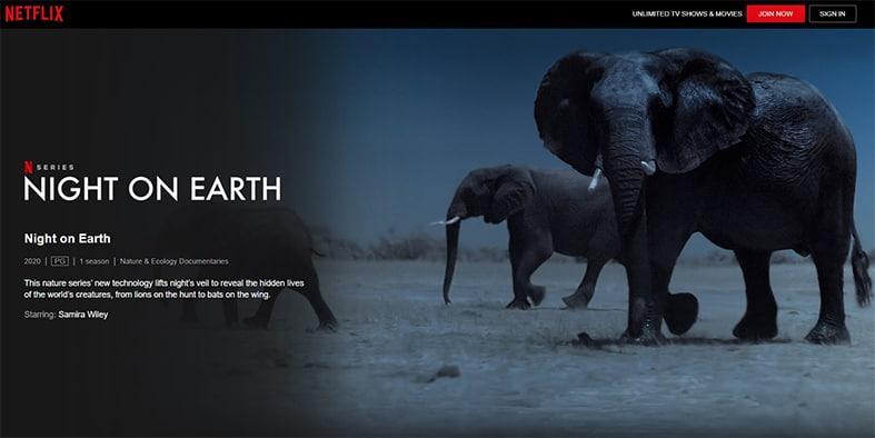 An image featuring a screenshot of Night On Earth Netflix show