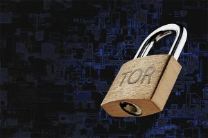 An image featuring a lock that has the Tor text on it representing the security of the Tor browser