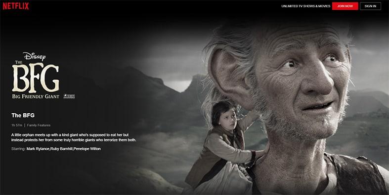 An image featuring a screenshot of The BFG Netflix show
