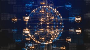 An image featuring a Tor network concept