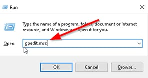 An image featuring Quickest Way to Disable Cortana UI Search Button Via Local Group Policy Editor step2