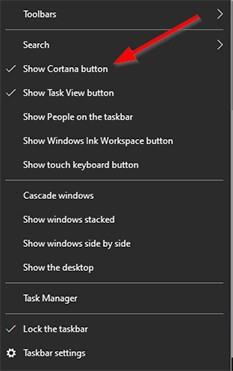 An image featuring How to Remove Cortana Search Box From Taskbar on Windows step5
