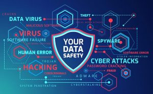an image with technology shield vector technology infographics background