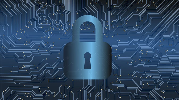 An image featuring cyber security concept