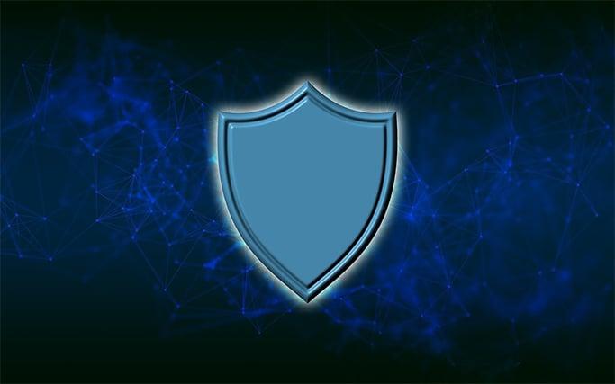 An image featuring an antivirus logo concept